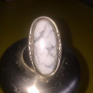 Jewelry - Native American White Magnesite Ring